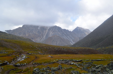 The severe nature of the Siberian mountains. The mountains of the Eastern Sayan, Republic of Buryatia.