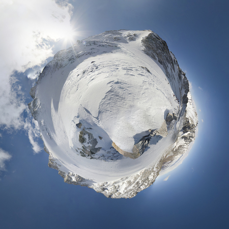 The Mountains Of The Eastern Sayan. Little planet. The beauty of the Siberian mountains. Stock Photo