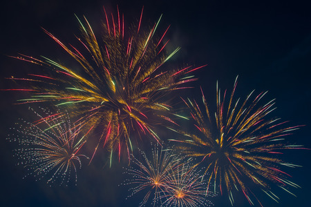 The country celebrates independence day, the night started with a festive salute.