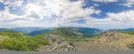 inaccessible: Majestic Siberian mountains Khamar-Daban. A huge panorama.