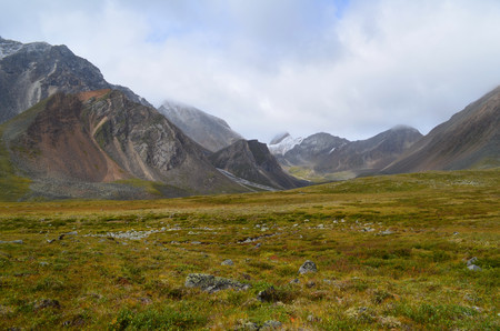 The Siberian high mountains of Eastern Sayan. Mountains are located in South-East Siberia.