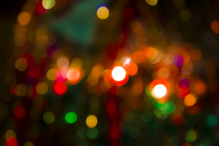 Background - abstract, Christmas lights twinkling in the distance, bright lights Stock Photo