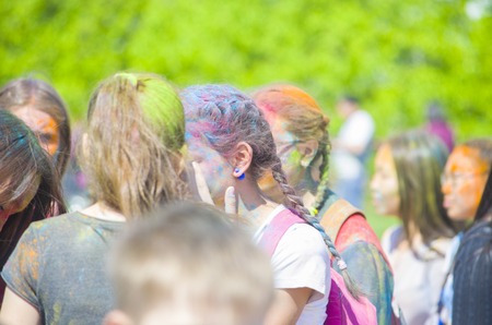 Ulan-Ude, Russia - May 31: the Indian Festival of colors Holi in the city of Ulan-Ude may 31, 2015. Russia.