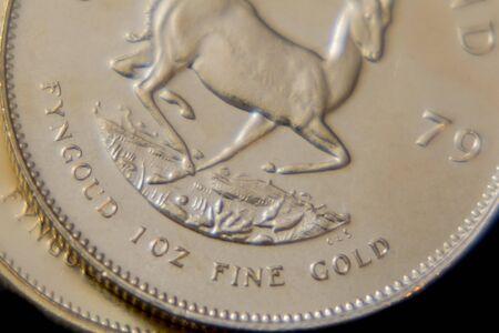 Close-up van 1oz Krugerrand Gold Coin
