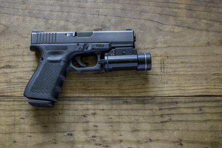 9mm Pistol with Tactical Light