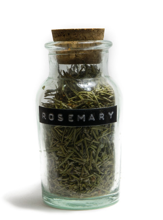 spice: Rosemary in Glass spice jar
