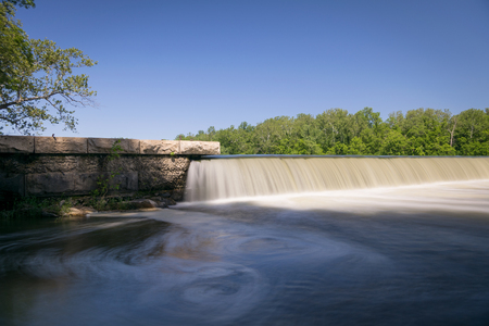 Water fall cascading over man made dam on the Potomac River in Virginia Stock fotó