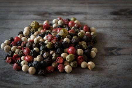 peppery: Gourmet Rainbow Whole Pepper Corns Stock Photo