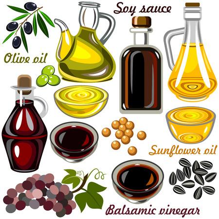 soy sauce: Oil