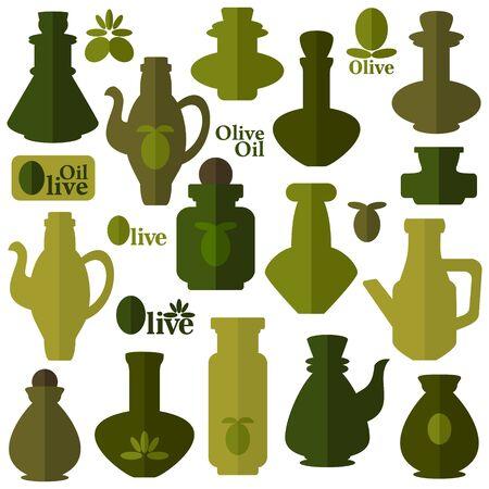 with sets of elements: Oil illustration  Illustration