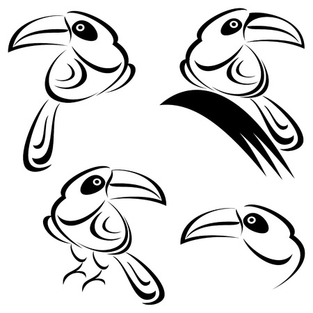 with sets of elements: Toucan illustration
