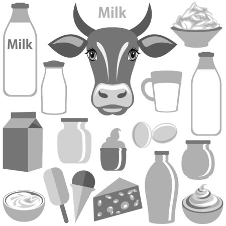 dairy product: Dairy Product illustration