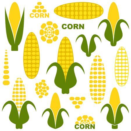 vegetarianism: Corn Illustration