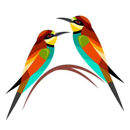 with sets of elements: Bee-eater