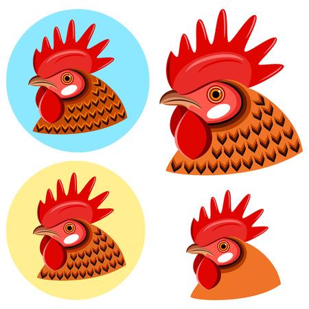animal heads: Chicken