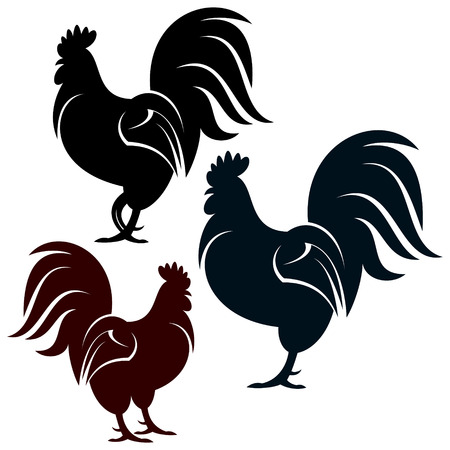 animales de granja: Gallo Vectores