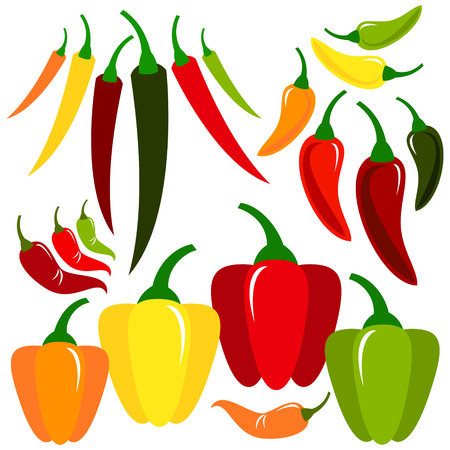 red pepper: Pepper Illustration