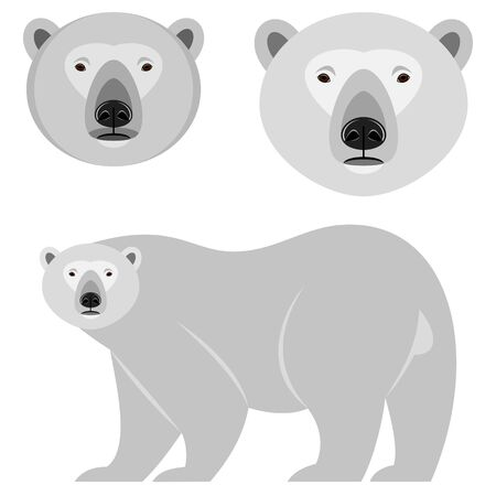 with sets of elements: bear Illustration