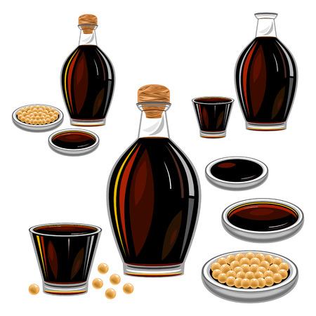 sos sojowy Ilustracje wektorowe