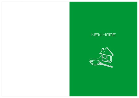 humilde: tarjeta nueva casa Vectores