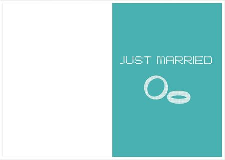 compliments: card just married Illustration