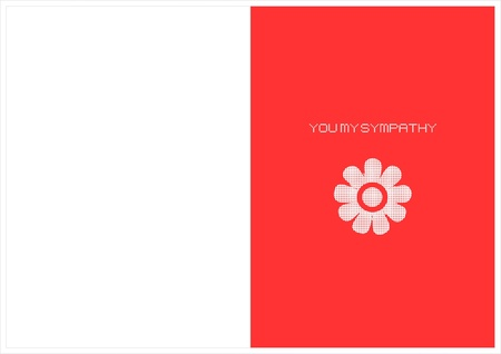 You my sympathy card Stock Vector - 16503938