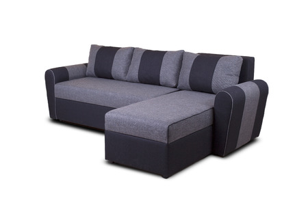 Studio shot of a grey modern sofa isolated on white background unknown model Banco de Imagens - 42467165