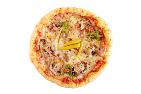 Isolated pizza