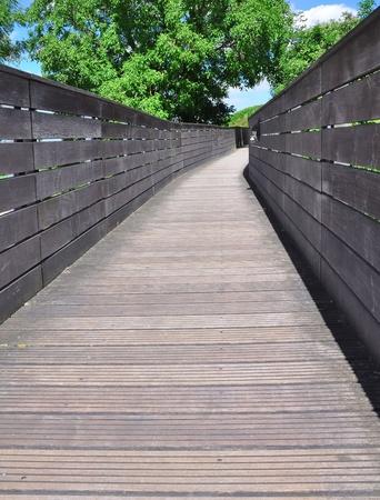 wooden pedestrian footbridge Stock Photo - 10906749