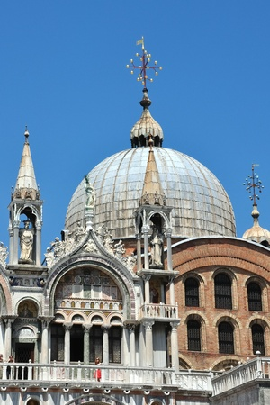 workship: cupola of the Basilica San Marco  Stock Photo