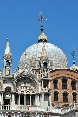 workship: cupola of the Basilica San Marco  Stock Photo