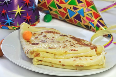 crepe and party favors