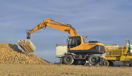 farm equipment: farm equipment when transporting sugar beet