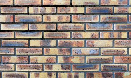 revestimientos: Muro de la decoraci�n con ladrillos de arcilla Foto de archivo