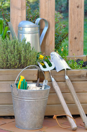 gardening tools and accessories  for maintenance planters photo