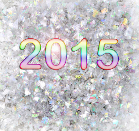 scintillating: new year 2015 on a confetti background
