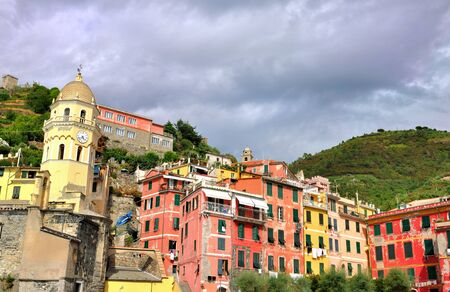 vernazza: Colorful village of the five land - Vernazza - Italy Stock Photo