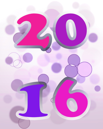 rounds: 2016 on pink and purple rounds  background