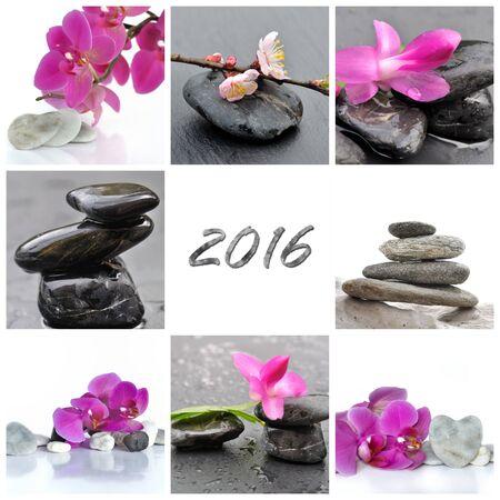 Grußkarte 2016 - concpet Wohlbefinden und Schönheit Standard-Bild - 49158350