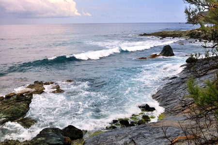 corse: surging sea on coastline - Cap Corse -France