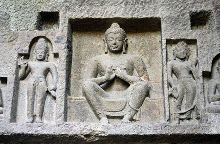 gautama: Gautama Buddha in Kanheri caves