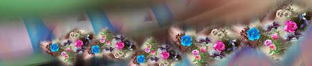 colorful digital saree design For Textile Printing