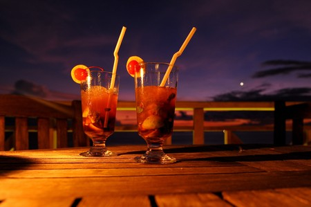 cocktail by sunset photo