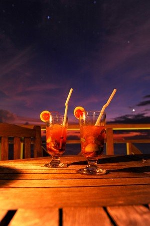 cocktail by sunset Stock Photo - 7976103