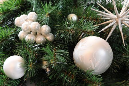 Christmas tree with silver balls photo