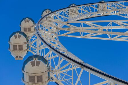 observation wheel: The Melbourne Star, a giant observation wheel located at the Docklands in the Melbourne city center Stock Photo