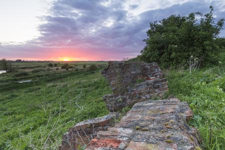 broken hill: Sunset behind the ruins.