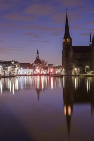 leidschendam: The historical village Leidschendam, located in the Netherlands at the Rijn-schiekanaal Stock Photo