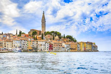 Cityscape of the Istrian village Rovinj Croatia on the Adriatic sea region. Rovinj is a popular, travel and touristic destination. Reklamní fotografie