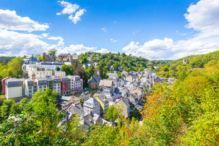 Best of the touristic village Monschau, located in the hills of the North Eifel, within the Hohes Venn - Eifel Nature Park in the narrow valley of the Rur river.